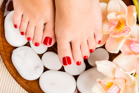 Photo of lady's painted toenails
